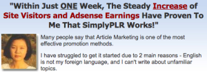 Matt Callen SimplyPLR Unique PLR Niche Content for Article Marketing
